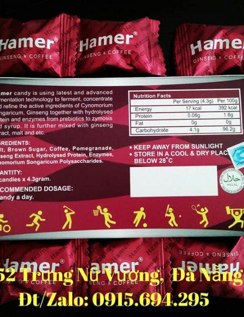 Kẹo sâm Hamer tăng cường cương dương