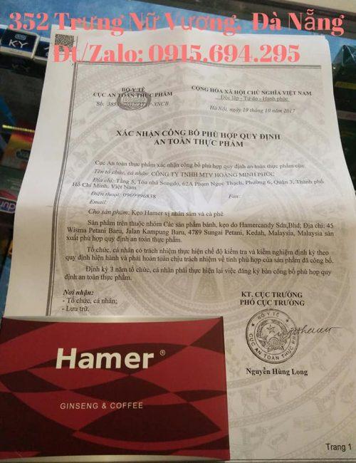 Kẹo sâm hamer chính hãng Đà Nẵng