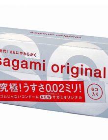 Bao cao su Sagami 002 hộp 6 cái