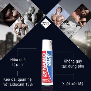 Công dụng chai xịt chống xuất tinh sớm Dynamo bán tại Đà Nẵng